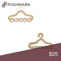 Gold hanger earrings by T&J Gold hanger fashion earrings by T&J Designs T&J Designs Jewelry Earrings