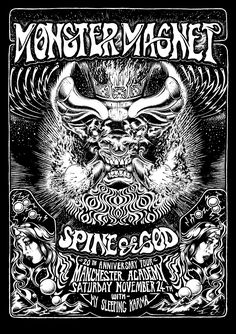 Monster Magnet poster by Chris Hitchman