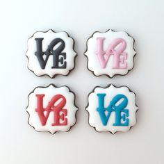 LOVE sign cookies