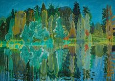 Adrian Berg 2000. Stourhead, 30th June. Oil on canvas. 132cm x 188cm. Private Collection.