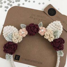 Colección invierno ganchillo diadema Floral por sideprojectsdesign