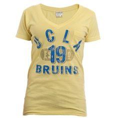 "UCLA Bruins Women's Arch Over ""19"" Tee - Yellow"
