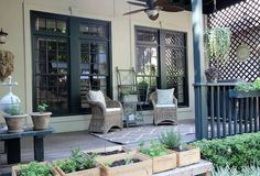 LOVE the wine box garden (full instructions on website) - LLH DESIGNS | BRAVEHEARTED BEAUTY: Our Houston Home