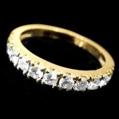 0.6ct Lab Diamond Wedding Bands Ring 14K Yellow Gold Classic Anniversary Gift VS #AffinityHomeshopping