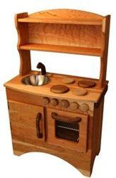 Wooden Toy Kitchen. LOVE.