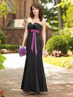 Satin Strapless Softly Gathered Bodice Mermaid Bridesmaids Dress