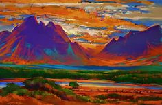 Jackson Hole Autumn pastel drawing by Michael McKee