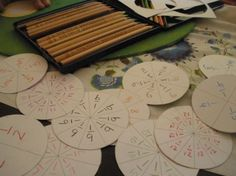 fractions part three: playing with pies & form drawing Equivalent Fractions, Math Fractions, Montessori Math, Homeschool Math, Math Classroom, Classroom Activities, Waldorf Math, Form Drawing, Fourth Grade Math