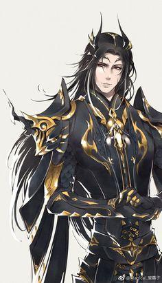 Helix Hunter Uniform and Head Hunter - Zeichnungen - Anime Fantasy Male, Dark Fantasy Art, Fantasy Artwork, Fantasy Character Design, Character Design Inspiration, Character Concept, Character Art, M Anime, Anime Demon