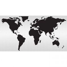 simple shap flat world map - Google Search | Home | Pinterest ...