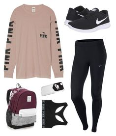 """Nike+VS"" by lily-pearson-1 on Polyvore featuring NIKE and Victoria's Secret"