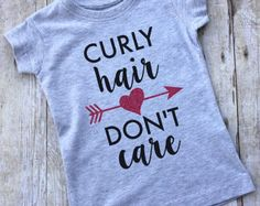 RTS white curly hair dont care tee curly hair by BigSisLilSisShop