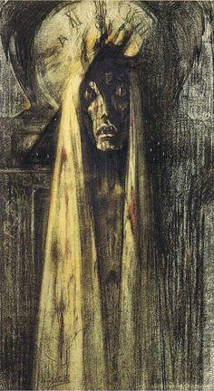 """loveage-moondream: """"   La Mort, 1915 - Jean Delville (1867–1953) """""""