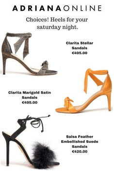 Saturday night is here! Looking for a pair of heels? We have the right choice for you! Suede Sandals, Shoes Heels, Fashion Sandals, Shoe Shop, Saturday Night, Style Fashion, Kitten Heels, Pairs, Shopping