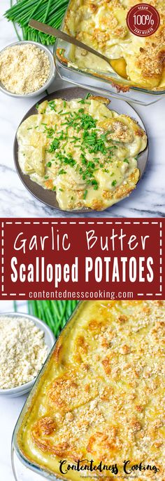 Amazing rich and creamy Garlic Butter Scalloped Potatoes, but totally vegan and gluten free. Believe me these taste so close to the real deal, thanks to an secret ingredient which makes this irresistible and out of this world.