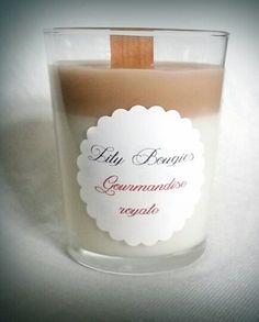Bougie végétale parfum Gourmandise royale par LilyBougies sur Etsy