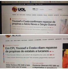 UOL Aécio Neves propina Youssef UOL remove nome de Aécio momentos depois de mencioná-lo em manchete
