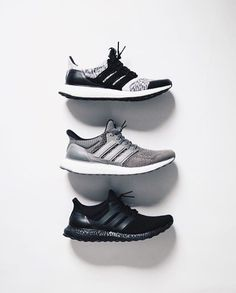 e430eb6f66c How to get new Adidas PureBoost Triple Black UA sneakers