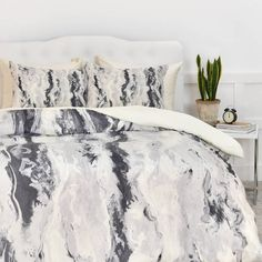 DENY Designs Lisa Argyropoulos Mono Melt Duvet Cover | Domino