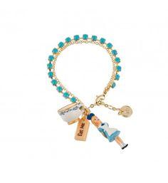 N2 by Les Néréides - Bracelet Alice sur chaîne en strass