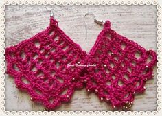 Sweet Nothings Crochet: ALL SQUARED UP EAR RING