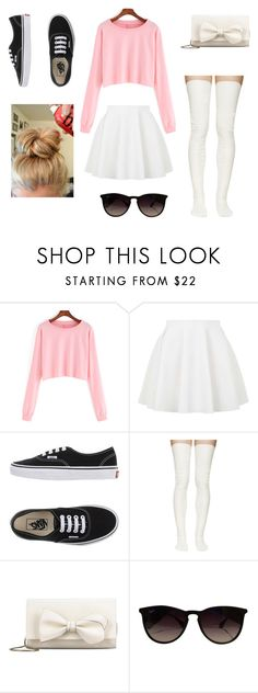 """crazy style!!!☺"" by sweet-ace-of-hearts ❤ liked on Polyvore featuring Topshop, Vans, Sacai Luck, RED Valentino, Ray-Ban, women's clothing, women's fashion, women, female and woman"