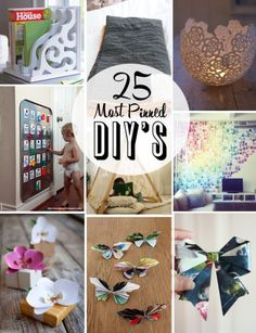 25 Most Popular Pinned DIYs