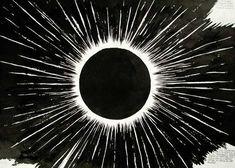 "This Raymond Pettibon piece reminds me of Flying Lotus's album ""Cosmogramma"" :)"