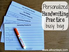 Personalized Handwriting Practice