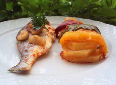 Dourada no Forno com pimentos e pimentão doce