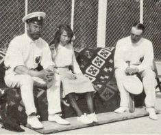 Nicholas II with grand duchess Anastasia & an officer, 1914.