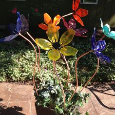 Fused glass Flowers by Diana's Art Place