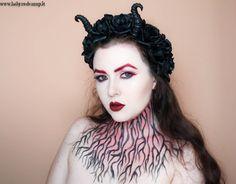 Babyredvamp Makeup  Halloween Series - Red Witch Makeup Trucco Da Strega 5efff01a5ba0