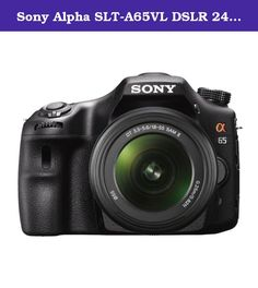 Sony Alpha SLT-A65VL DSLR 24.3MP SLR Camera with 3-Inch LCD Screen and 18-55mm Lens (OLD MODEL). Best of both worlds, 24.3 megapixel and up to 10 fps. Get action photos, HD Movies and Live View shots that other cameras miss, thanks to Sony's exclusive Translucent Mirror Technology. Enjoy smooth and creative HD video at full 1920 x 1080 resolution -at either 60p or 24p frame rate - plus the world's first OLED electronic viewfinder.