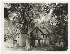 """Orchard Home"", Concord, [Mass.] - home of Louisa May Alcott as photographed by Halliday Historic Photograph Co."