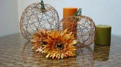 DIY Tutorial: DIY Pumpkins Crafts / DIY Thread Pumpkins - Bead&Cord