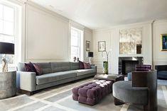 Luxe Modern Living Room of Ivanka Trump's New Hose in DC In Obama's New Neighborhood