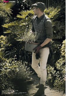 Will Chalker is Botanist Chic for Esquire Hong Kong