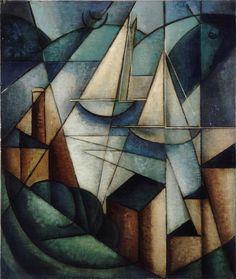 Jean Metzinger, French, 1883–1956:  Sailboats (Scène du port), ca. 1912  Oil on canvas