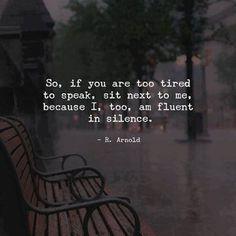 Comfortable silences