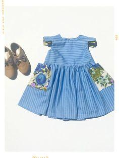 The Sarina Floral Aline Pocket Girls Dress. Little Girl Dresses, Blue Dresses, Girls Dresses, Summer Dresses, Bohemian Style Clothing, Bohemian Girls, Girl Fashion, Fashion Outfits, Dress Vintage