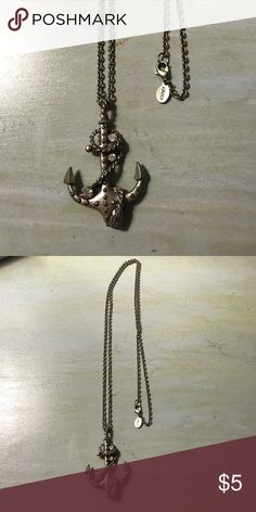 Anchor chain necklace American Eagle American eagle long anchor necklace American Eagle Outfitters Jewelry Necklaces
