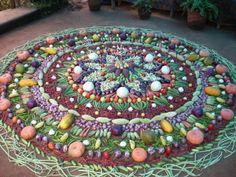 Veggie Mandala Garden Decor