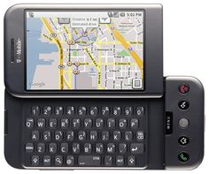 T-Mobile G1. The very first smartphone to run Android. #nostalgia hehe