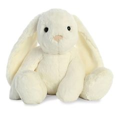 0b92e1ee7a84 Tribbles the Stuffed White Bunny with Long Floppy Ears by Aurora