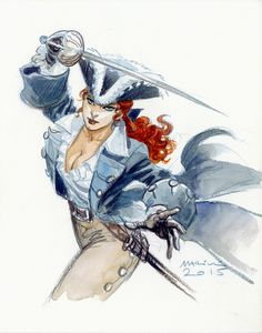 World-building, one image at a time, and fantasy art miscellanea. Pirate Art, Pirate Woman, Character Concept, Character Art, Character Design, Dnd Characters, Fantasy Characters, Girl Pirates, Bd Comics
