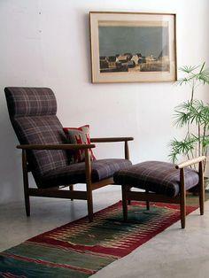 Ejvind A, Johansson; Oak Lounge Chair and Ottoman for FDB Møbler, 1960s.