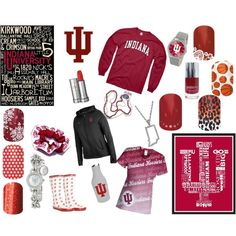 Hoosiers. Show your school spirit with Jamberry Nail wraps! #nailart #jamberrynails #hoosiers #indianauniversity. Get your own at: www.rockinnails4U@jamberrynails.net