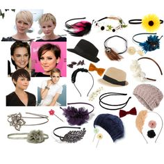 """""""Pixie Cut Accessories"""" by snowsilver on Polyvore"""