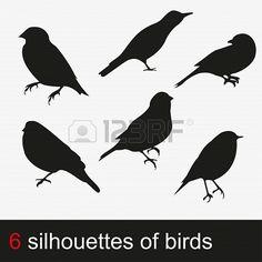 illustration silhouettes of birds Stock Photo - 19870216